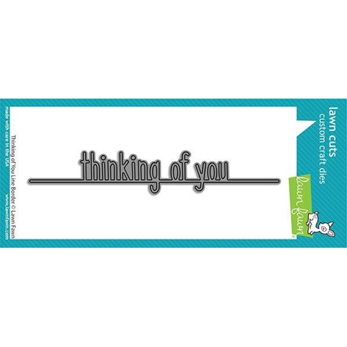 Lawn Fawn THINKING OF YOU LINE BORDER Die Cut lf2529 Preview Image