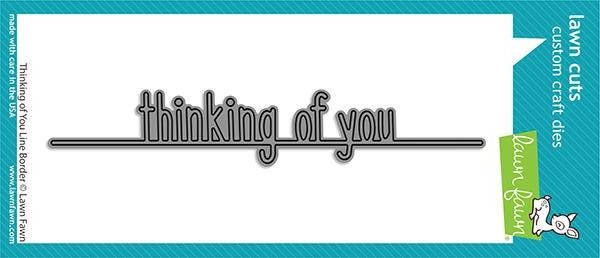 Lawn Fawn THINKING OF YOU LINE BORDER Die Cut lf2529 zoom image