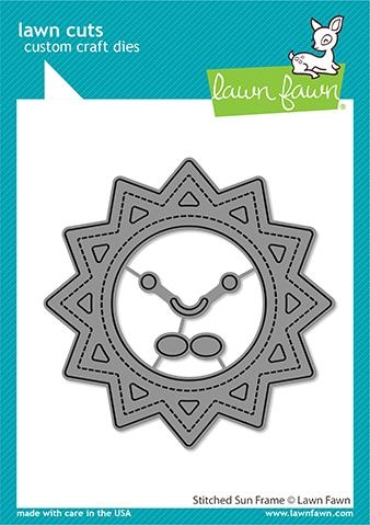 Lawn Fawn STITCHED SUN FRAME Die Cuts lf2530 zoom image