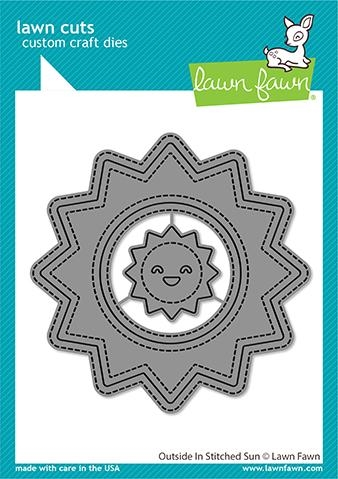Lawn Fawn OUTSIDE IN STITCHED SUN Die Cuts lf2531 Preview Image