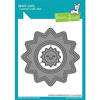 Lawn Fawn OUTSIDE IN STITCHED SUN Die Cuts lf2531