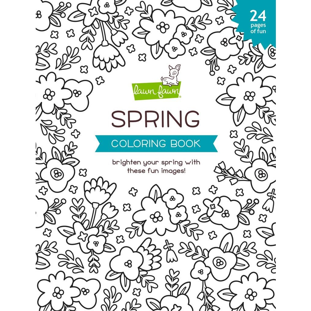 Lawn Fawn SPRING Coloring Book lf2540 zoom image