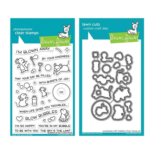 Lawn Fawn SET BUBBLES OF JOY Clear Stamps and Dies lfboj Preview Image