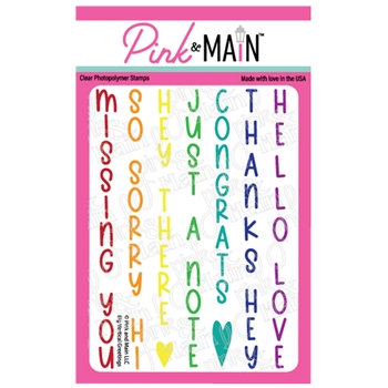 Pink and Main BIG VERTICAL GREETINGS Clear Stamps PM0450