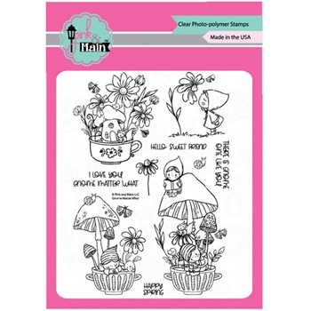 Pink and Main GNOME MATTER WHAT Clear Stamps PM0445