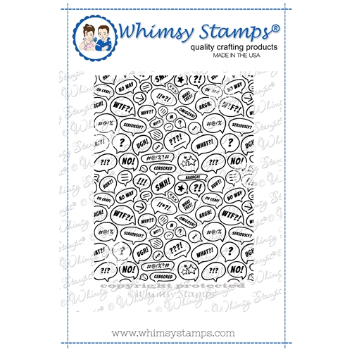 Whimsy Stamps WTF Background Cling Stamp DDB0054 Preview Image