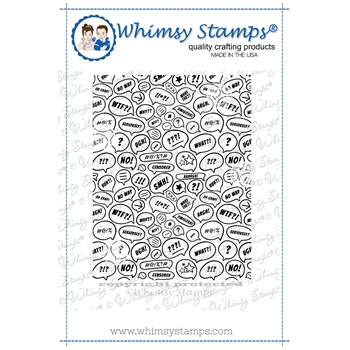 Whimsy Stamps WTF Background Cling Stamp DDB0054