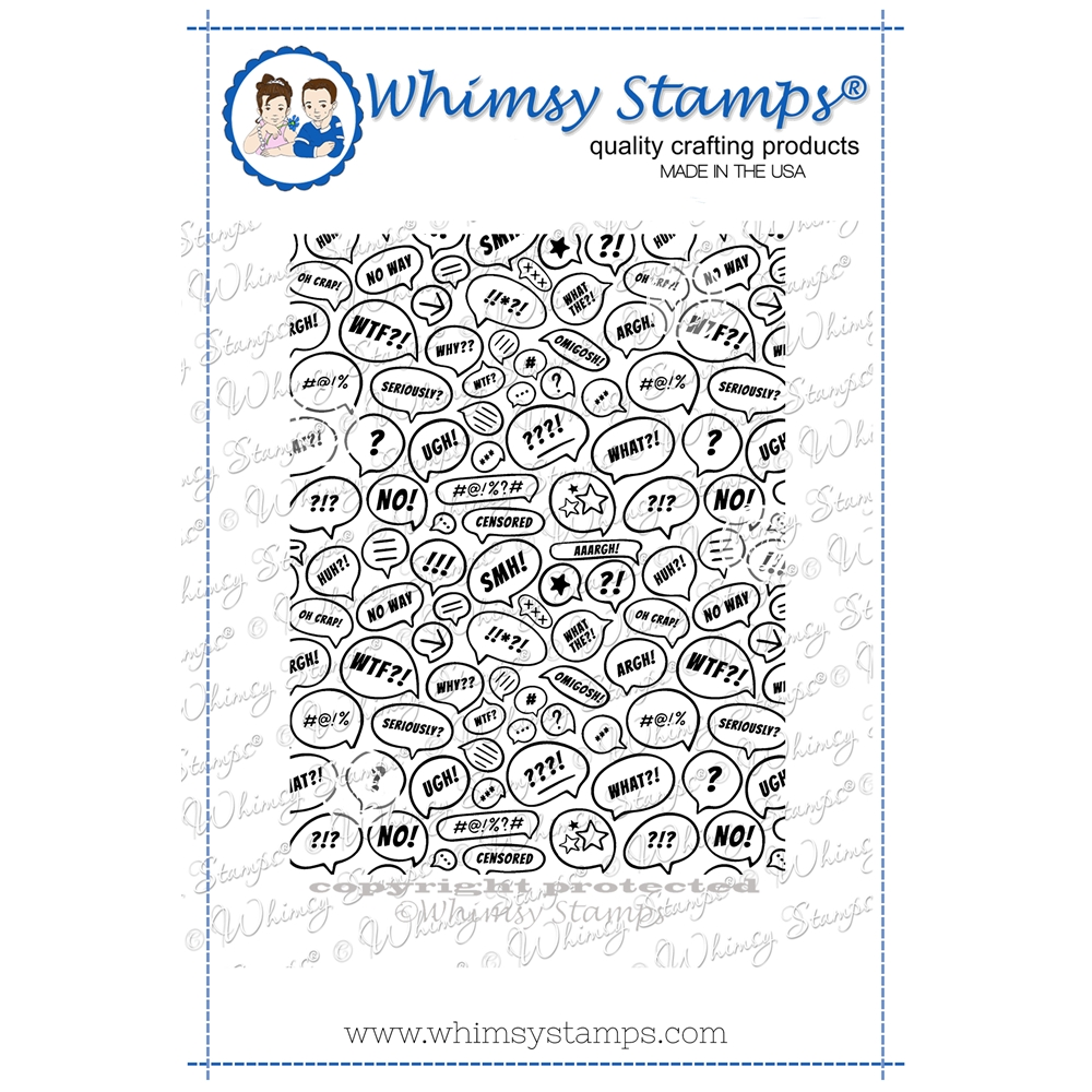 Whimsy Stamps WTF Background Cling Stamp DDB0054 zoom image