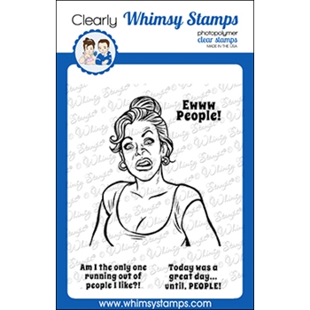 Whimsy Stamps MEME PEOPLE Clear Stamps CWSD367