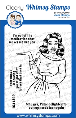 Whimsy Stamps MEME FYI Clear Stamps CWSD365 Preview Image