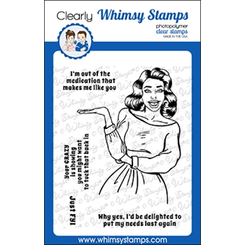 Whimsy Stamps MEME FYI Clear Stamps CWSD365