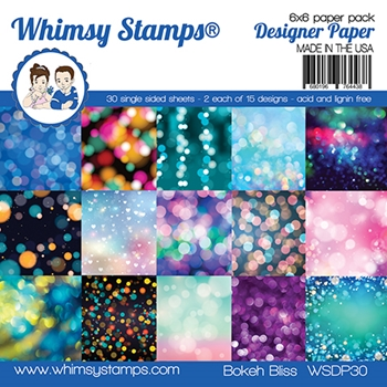 Whimsy Stamps BOKEH BLISS 6 x 6 Paper Pads WSDP30