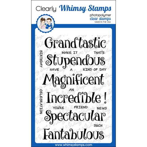 Whimsy Stamps FANTABULOUS Clear Stamps CWSD364 Preview Image