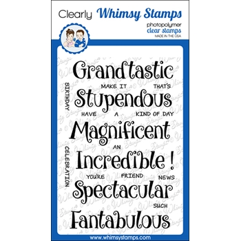 Whimsy Stamps FANTABULOUS Clear Stamps CWSD364