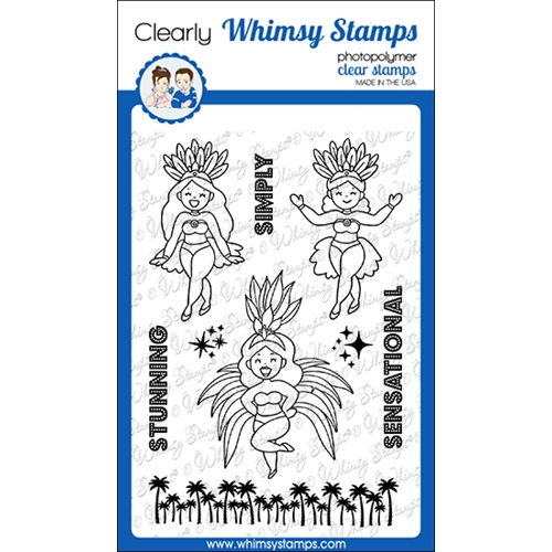 Whimsy Stamps SIMPLY STUNNING Clear Stamps CWSD363 Preview Image
