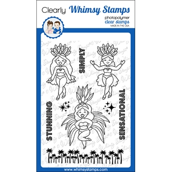 Whimsy Stamps SIMPLY STUNNING Clear Stamps CWSD363*