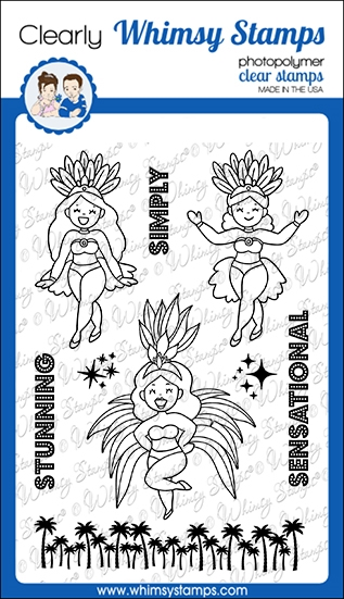 Whimsy Stamps SIMPLY STUNNING Clear Stamps CWSD363 zoom image