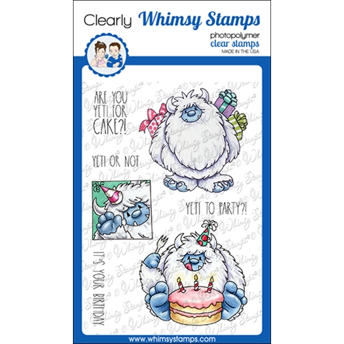 Whimsy Stamps YETI TO PARTY Clear Stamps C1374 Preview Image