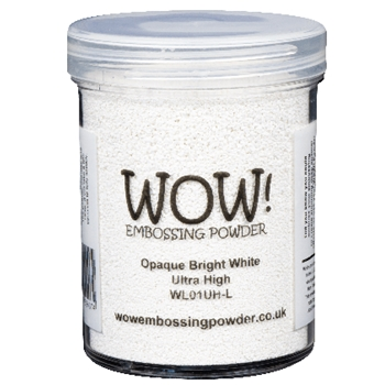 WOW Embossing Powder OPAQUE BRIGHT WHITE Ultra High Large Jar wl01uhl