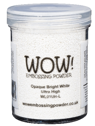 WOW Embossing Powder OPAQUE BRIGHT WHITE Ultra High Large Jar wl01uhl zoom image