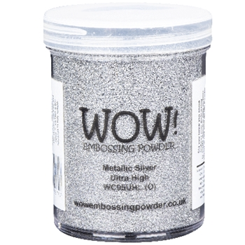 WOW Embossing Powder METALLIC SILVER Ultra High Large Jar wc05uhl