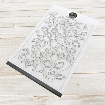 ModaScrap Clear Stamps FLOWERS PATTERN mstc1052