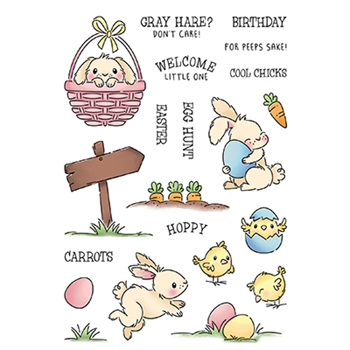 LDRS Creative HOPPY EGG HUNT Clear Stamps 3288
