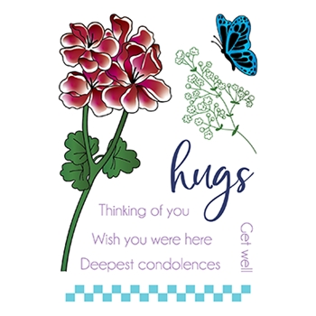 LDRS Creative PELARGONIUM Clear Stamps 3287