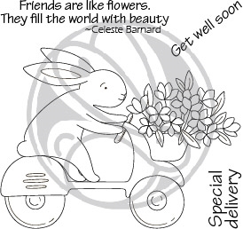 The Rabbit Hole Designs SPRING DELIVERY Clear Stamps TRH 95