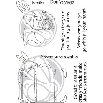 The Rabbit Hole Designs ADVENTURE AWAITS Clear Stamps TRH 91