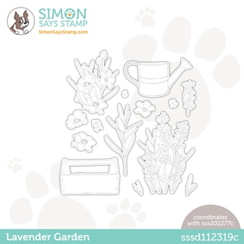 Simon Says Stamp LAVENDER GARDEN Wafer Dies sssd112319c Hello Beautiful