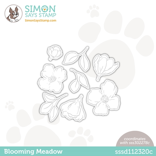 Simon Says Stamp BLOOMING MEADOW Wafer Dies sssd112320c Hello Beautiful Preview Image