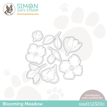 Simon Says Stamp BLOOMING MEADOW Wafer Dies sssd112320c Hello Beautiful