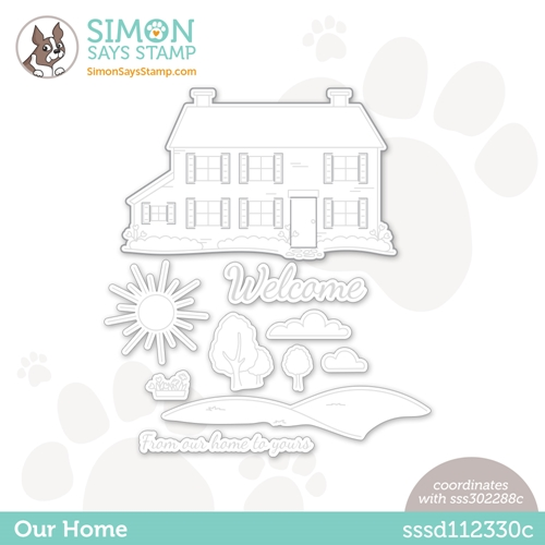 Simon Says Stamp OUR HOME Wafer Die sssd112330c Hello Beautiful Preview Image