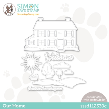 Simon Says Stamp OUR HOME Wafer Die sssd112330c Hello Beautiful *