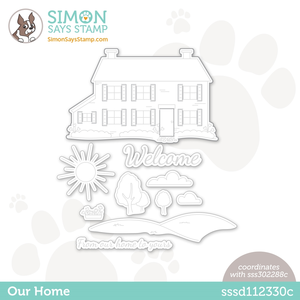 Simon Says Stamp OUR HOME Wafer Die sssd112330c Hello Beautiful zoom image