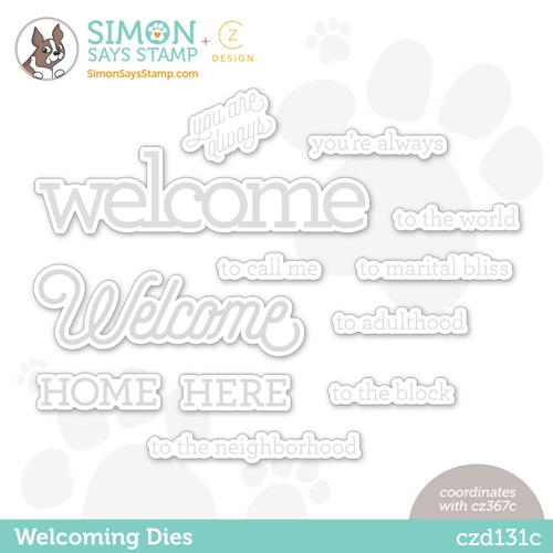 CZ Design Wafer Dies WELCOMING czd131c Hello Beautiful Preview Image