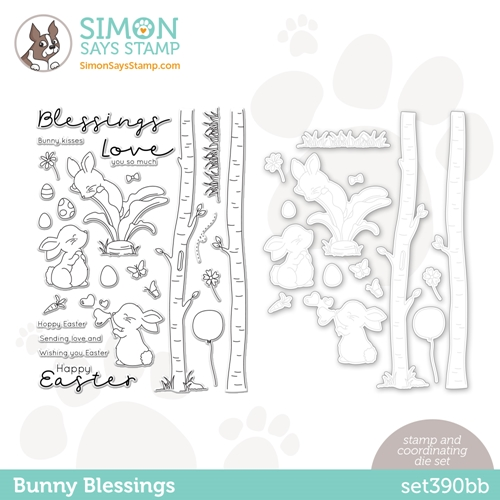 Simon Says Stamps and Dies BUNNY BLESSINGS set390bb Hello Beautiful Preview Image