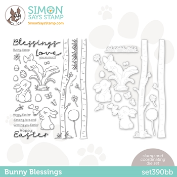 Simon Says Stamps and Dies BUNNY BLESSINGS set390bb Hello Beautiful