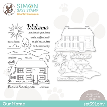 Simon Says Stamps and Dies OUR HOME set391oh Hello Beautiful