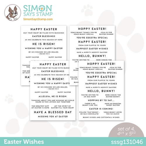 Simon Says Stamp Sentiment Strips EASTER WISHES sssg131046 Hello Beautiful Preview Image