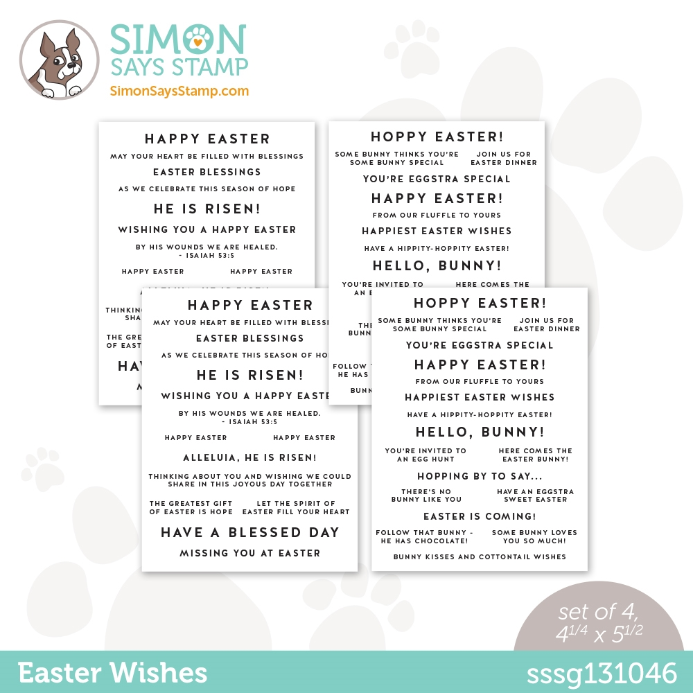 Simon Says Stamp Sentiment Strips EASTER WISHES sssg131046 Hello Beautiful zoom image