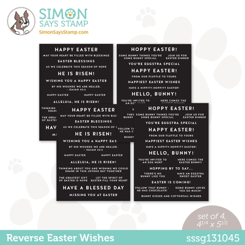 Simon Says Stamp Sentiment Strips REVERSE EASTER WISHES sssg131045 Hello Beautiful Preview Image