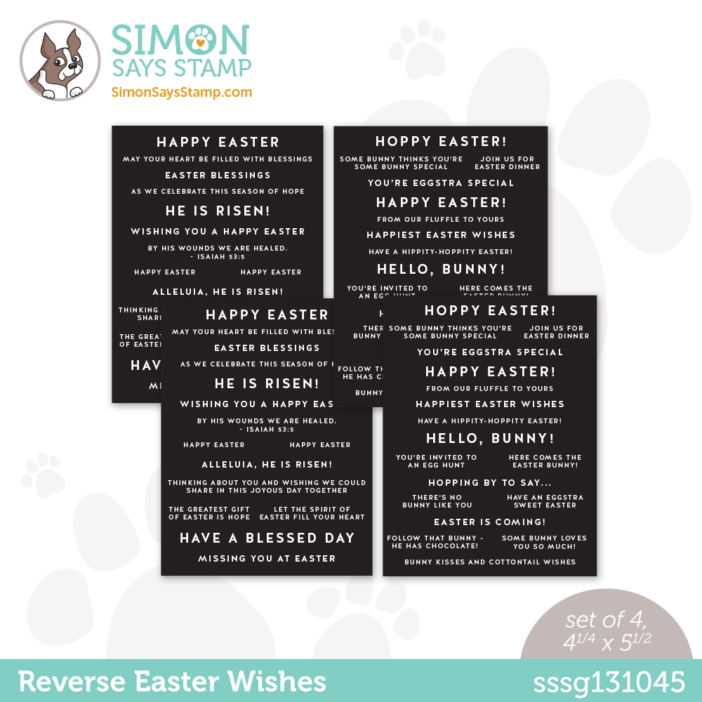 Simon Says Stamp Sentiment Strips REVERSE EASTER WISHES sssg131045 Hello Beautiful zoom image