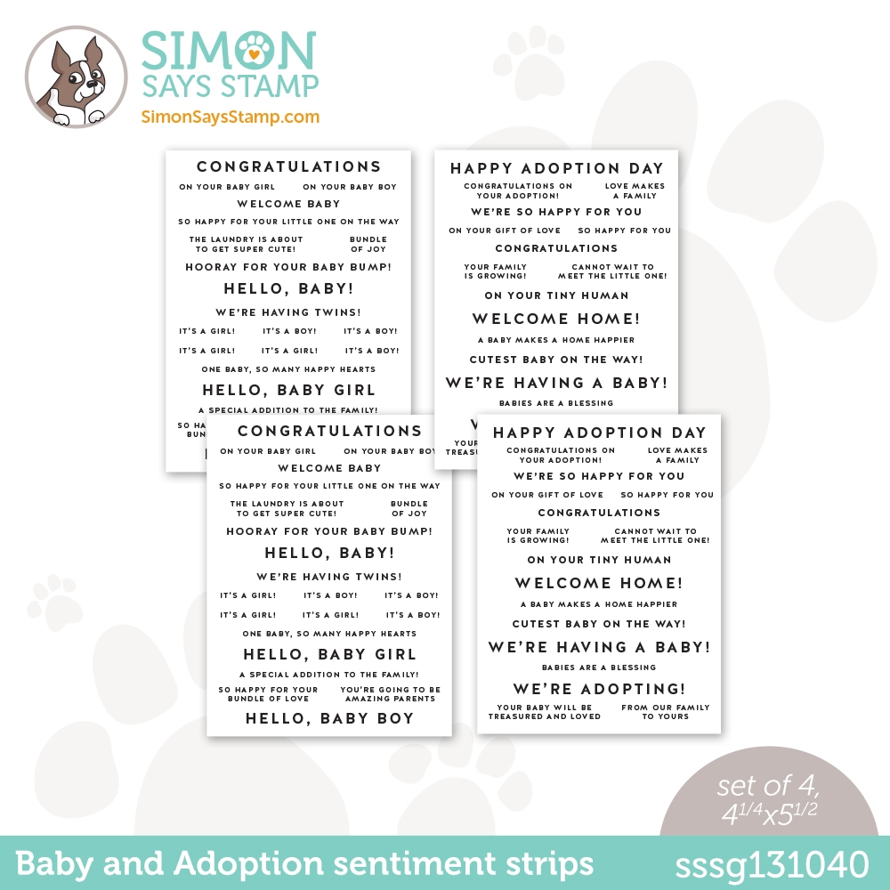 Simon Says Stamp Sentiment Strips BABY AND ADOPTION sssg131040 Hello Beautiful zoom image