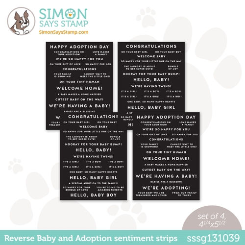 Simon Says Stamp Sentiment Strips REVERSE BABY AND ADOPTION sssg131039 Hello Beautiful Preview Image