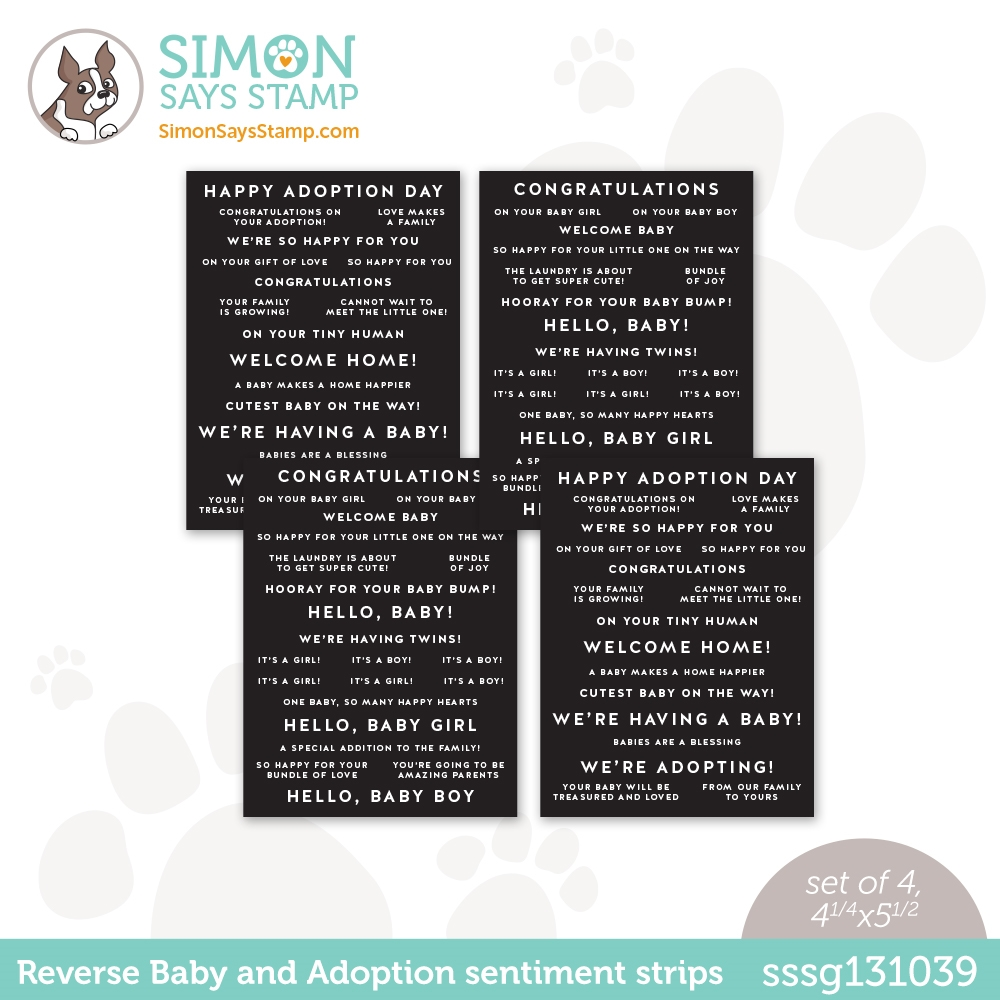 Simon Says Stamp Sentiment Strips REVERSE BABY AND ADOPTION sssg131039 Hello Beautiful zoom image