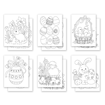 Simon Says Stamp Suzy's EASTER PALS Watercolor Prints szwc0221he Hello Beautiful