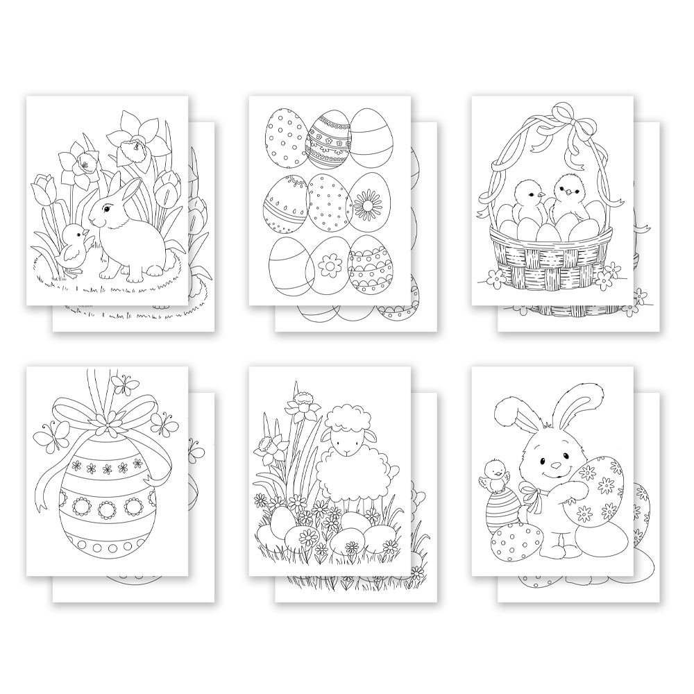 Simon Says Stamp Suzy's EASTER PALS Watercolor Prints szwc0221he Hello Beautiful zoom image