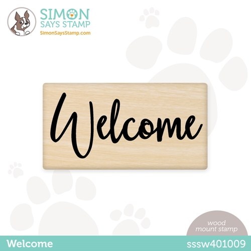 Simon Says Wood Stamp WELCOME sssw401009 Hello Beautiful Preview Image